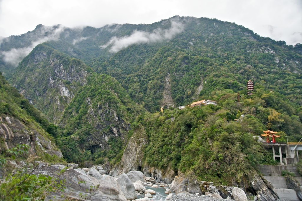 View of Taroko Gorge in Taiwan